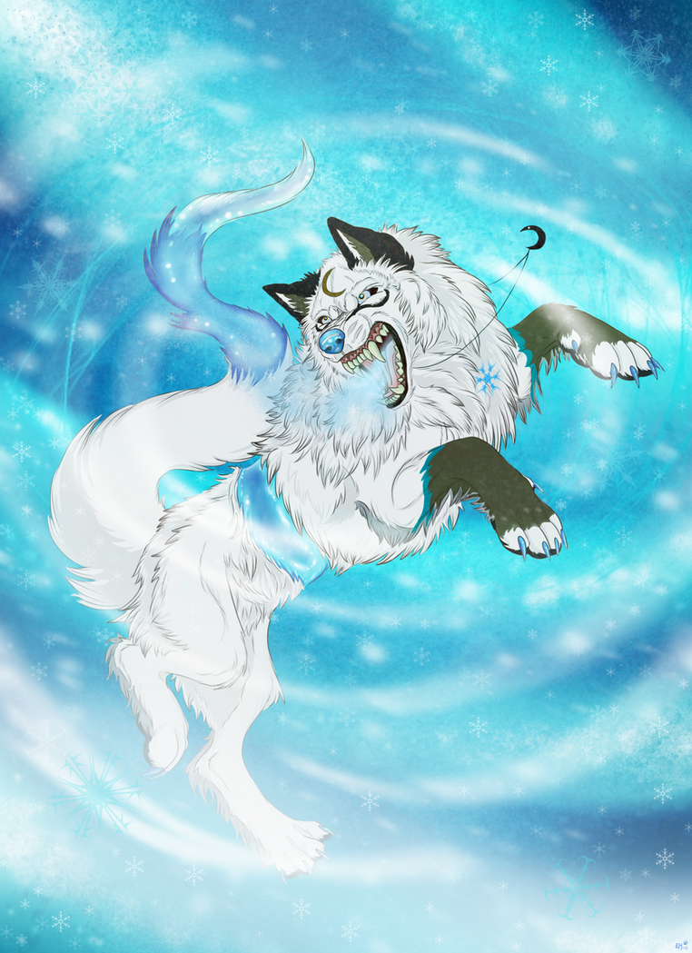 Snow-The Snow Queen + VIDEO by EmberWolfsArt