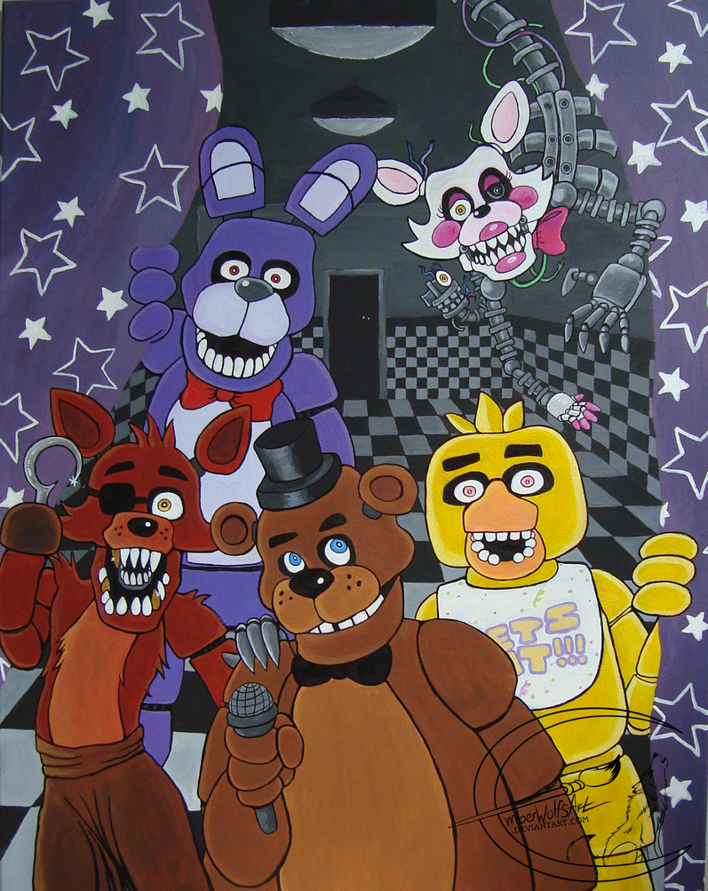Gift: Five Nights at Freddys by EmberWolfsArt