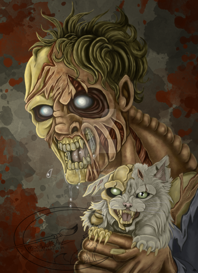 ZombieCatLady+Video by EmberWolfsArt