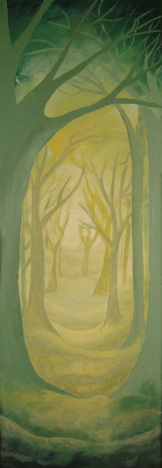 Forest painting by EmberWolfsArt