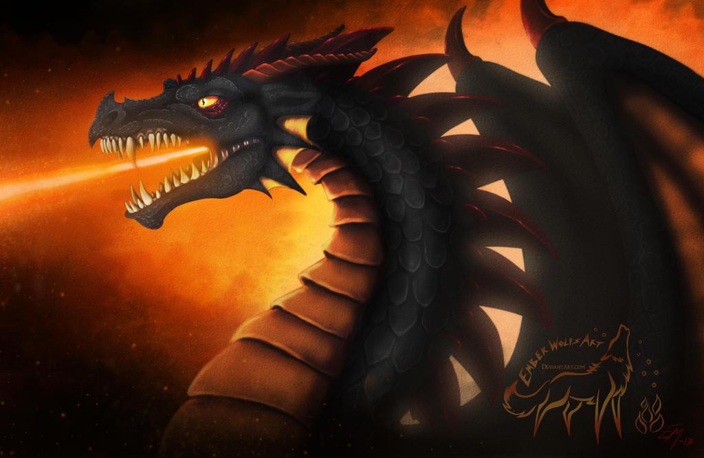 Dragon Fire VIDEO by EmberWolfsArt