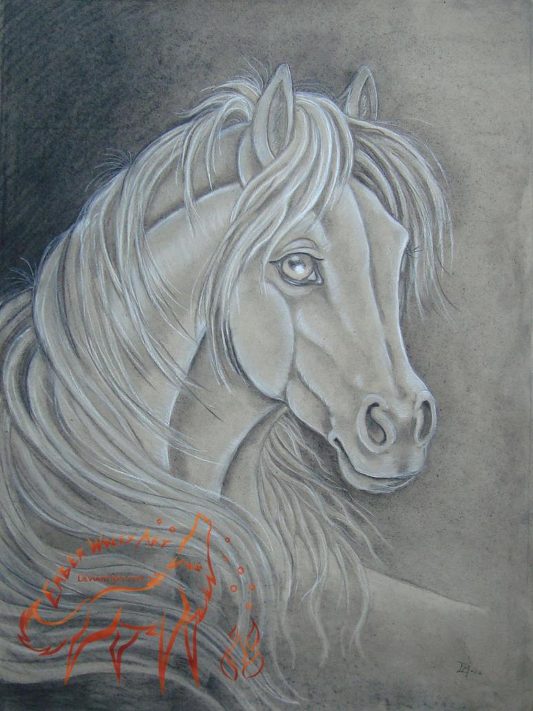 Arabian Horse by EmberWolfsArt