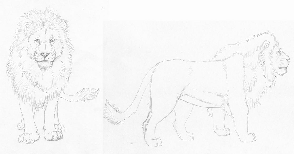 Lion by EmberWolfsArt