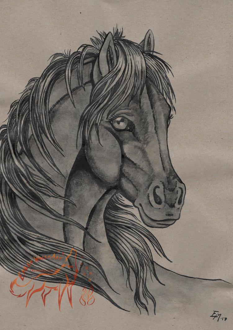Inked Beauty by EmberWolfsArt