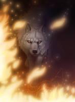 Walk through fire + VIDEO by EmberWolfsArt