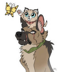 Pixie and Brutus + VIDEO by EmberWolfsArt