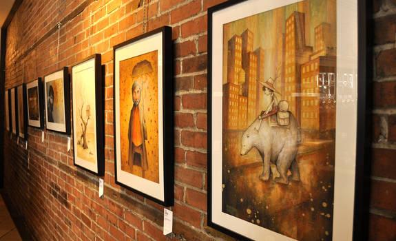 Exhibition at la Brulerie Limoilou
