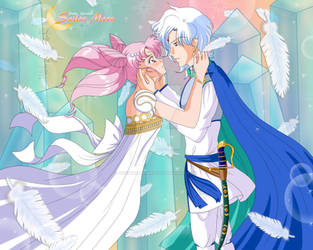 Chibi Serenity x Helios by Kyouseitekinaai