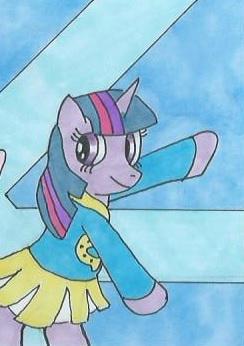 NATGday8: Pony spreading cheer (Twilight Sparkle)