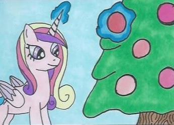 NATGday10: Cadance decorating the tree