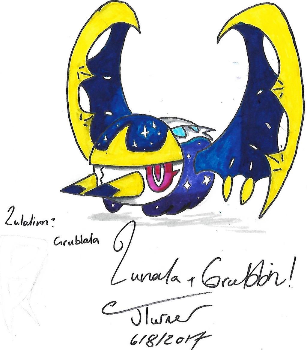 Grubbin And Lunala Fusion By Booxinton On DeviantArt