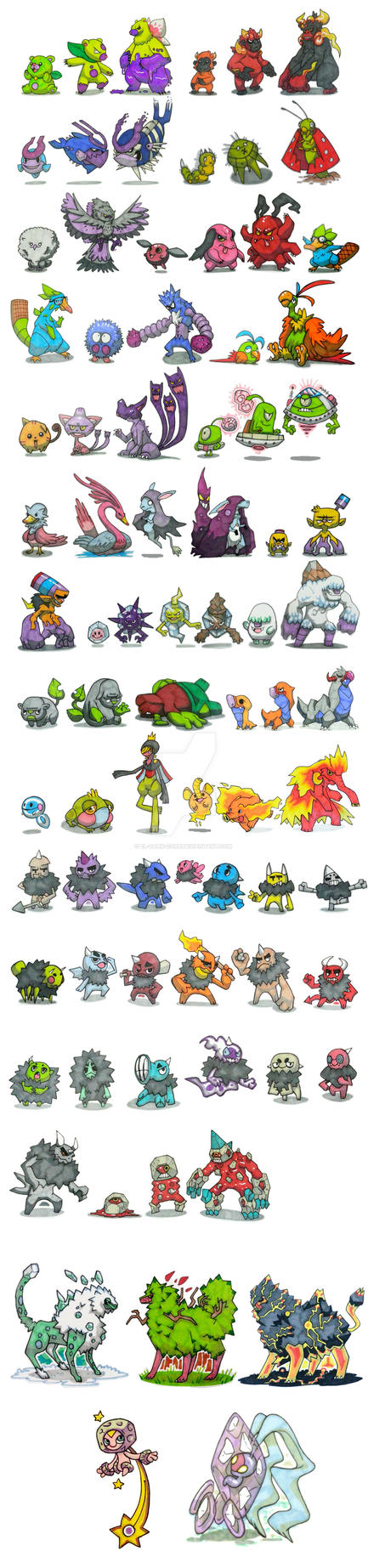 Fast Fakemon Dex by El-Dark-Core
