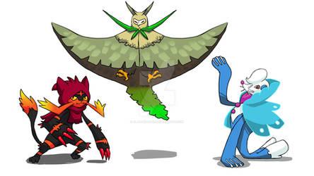 Alola's starters final evolution