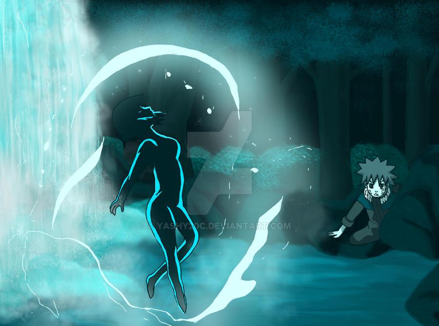 Naruto and Hinata Waterfall by yashy20c