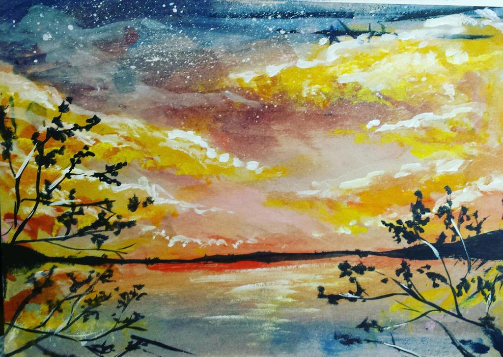 acrylic lake by Uta97