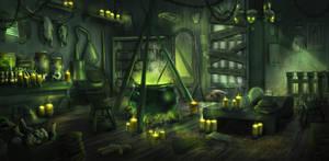 Rough Witch Interior Concept by PedroDeElizalde