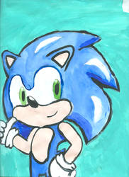 sonic painting by superdupertails