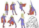 Practice poses with Supergirl by theoDnanda