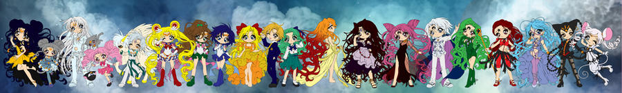 Sailor Moon Composite - Lineart by Sureya by Saika-Elkhart