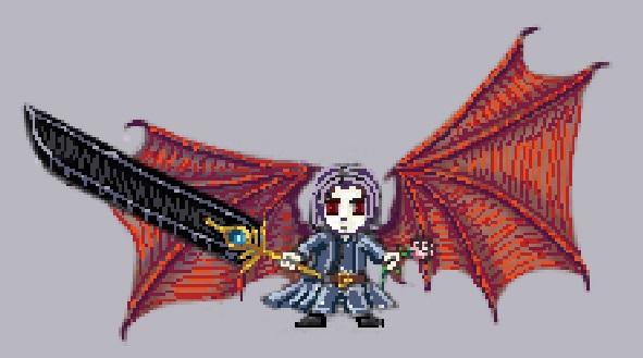 Pixelart: chibi dark knight