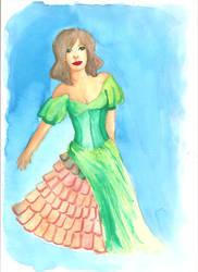 green dress by lari-elassea