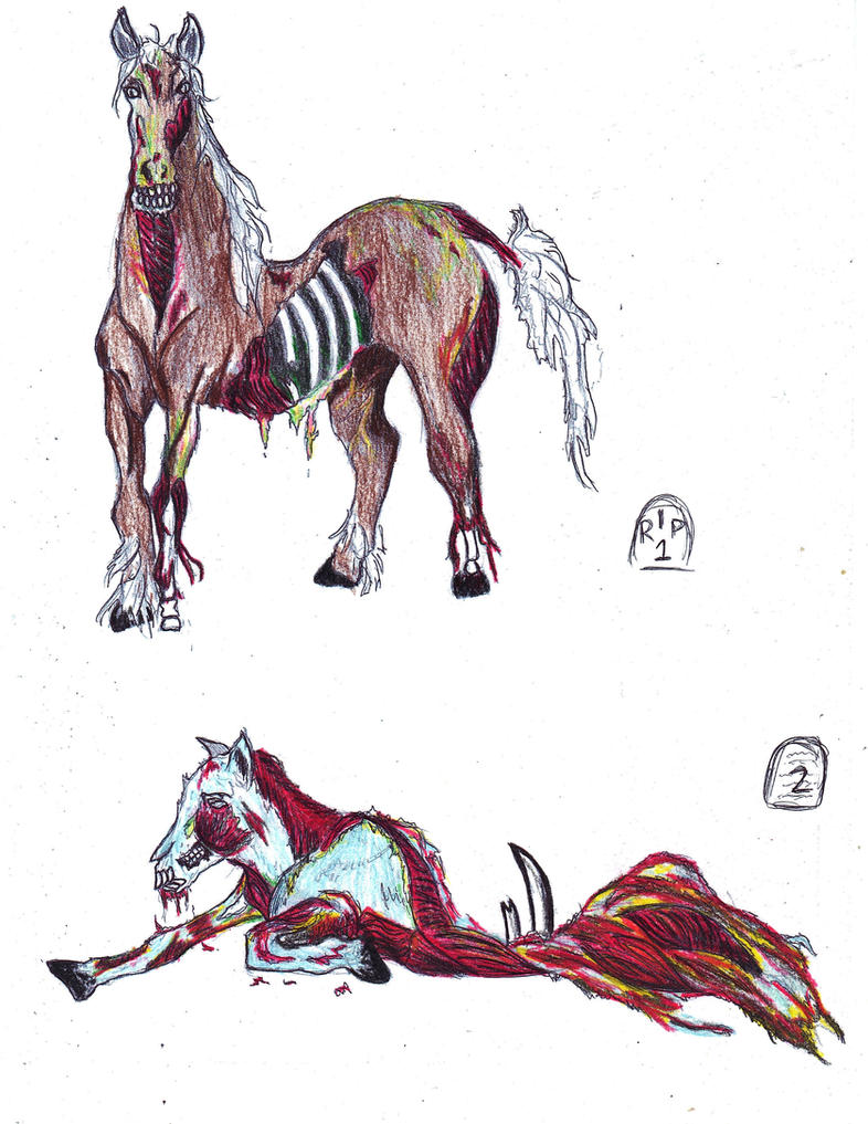 Zombie Horses Adoptables {OPEN} by Nutmeg-Adoptables on ...