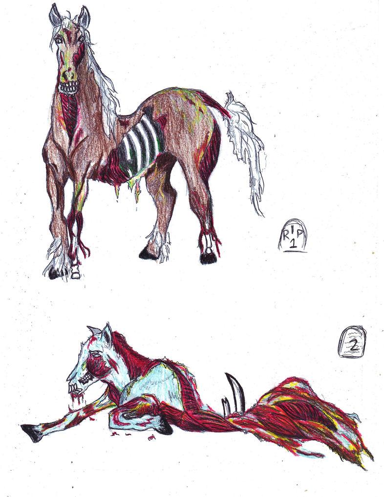 horse zombie pictures cartoon
