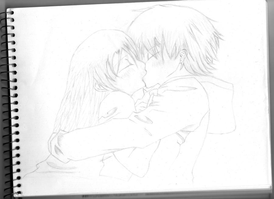 Girl and Boy Kissing by NodvasOliver on DeviantArt