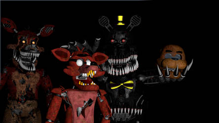 Nightmare Controlling Foxy (SFM) by AmanGaming1910