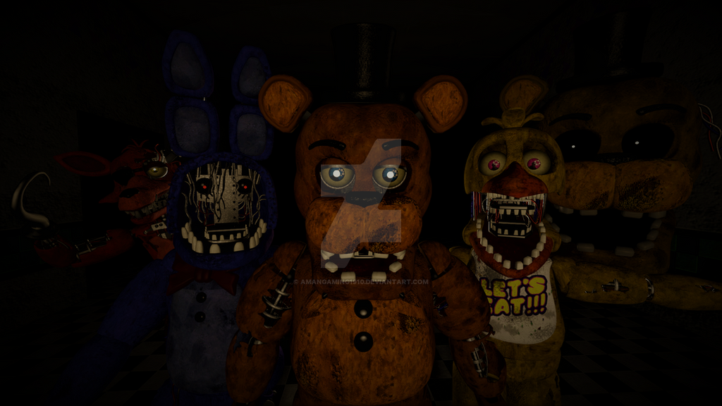 Fnaf 2 W Animatronics Poster by AmanGaming1910