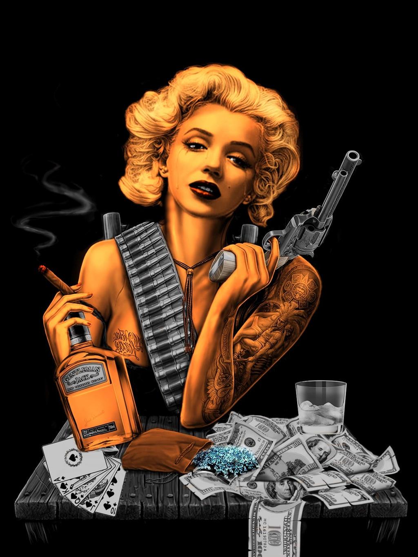 Marilyn Monroe Gangster By Pave65 On Deviantart