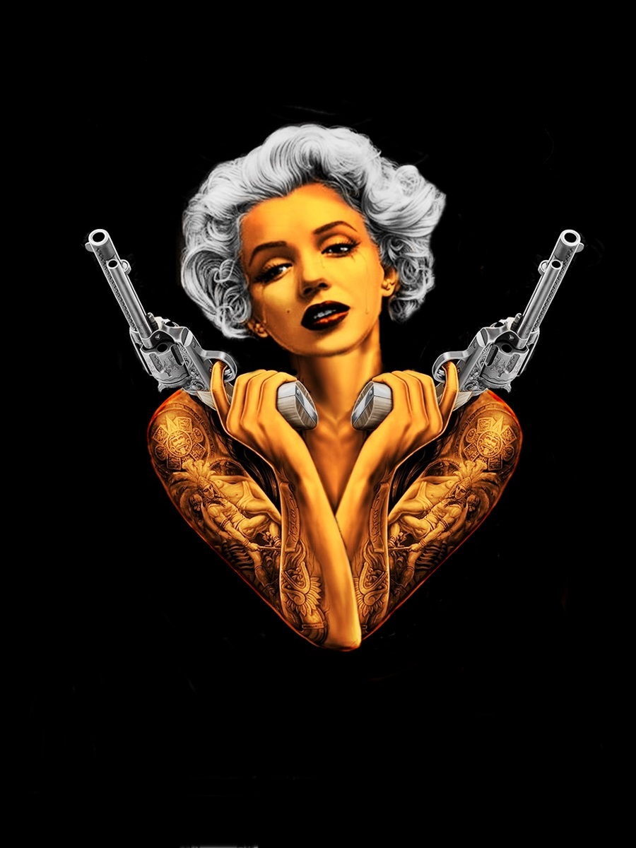 Gangsta Drawings With Guns Marilyn Monroe ...