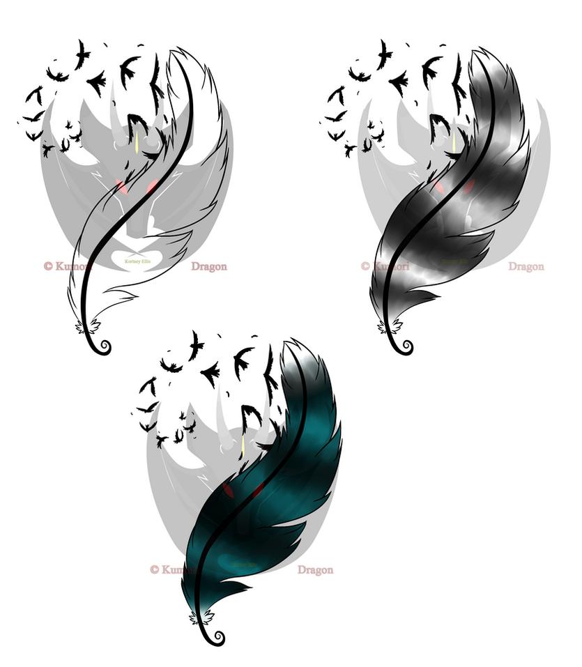feather of freedom tattoo design by kumoridragon on deviantart. Black Bedroom Furniture Sets. Home Design Ideas