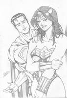 Superman and wonder woman by Dannith