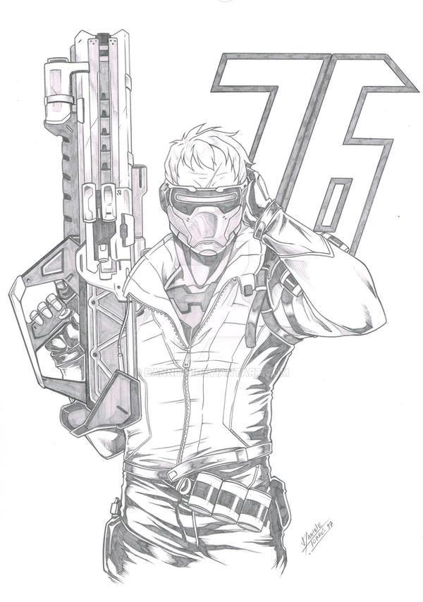 Commission - Soldier 76 by Dannith