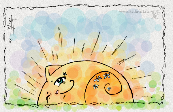Goodmorning cat by Keila-the-fawncat