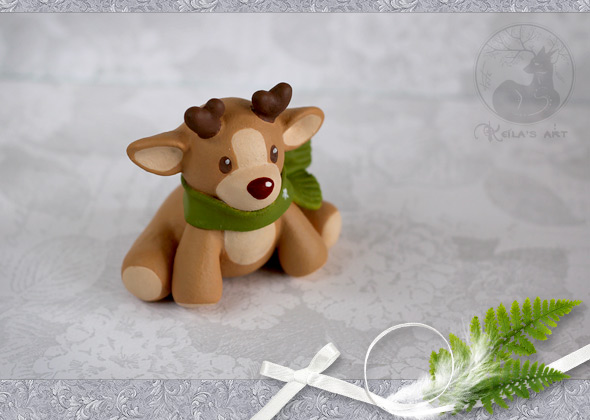 Rudolph fawn commission by Keila-the-fawncat