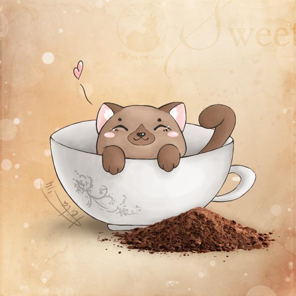 purrrin' sweetness by Keila-the-fawncat