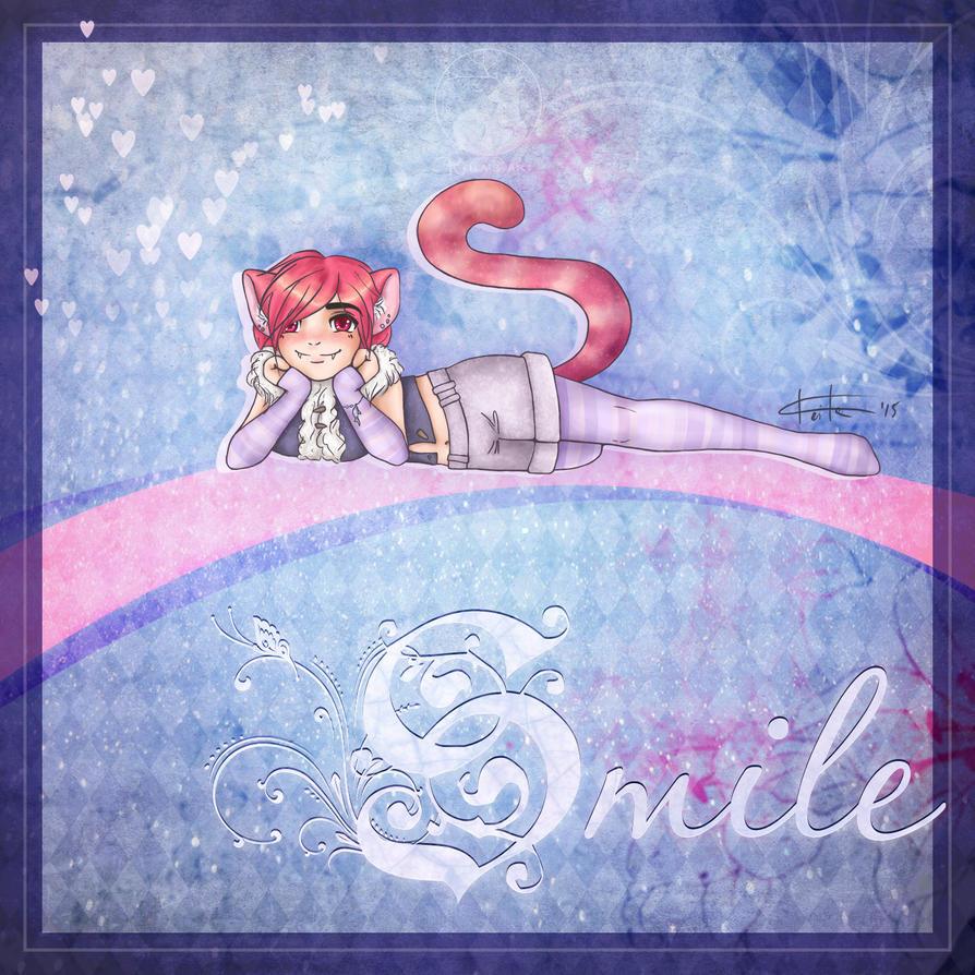 magic smiling cat by Keila-the-fawncat