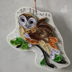 Quilling barn owl