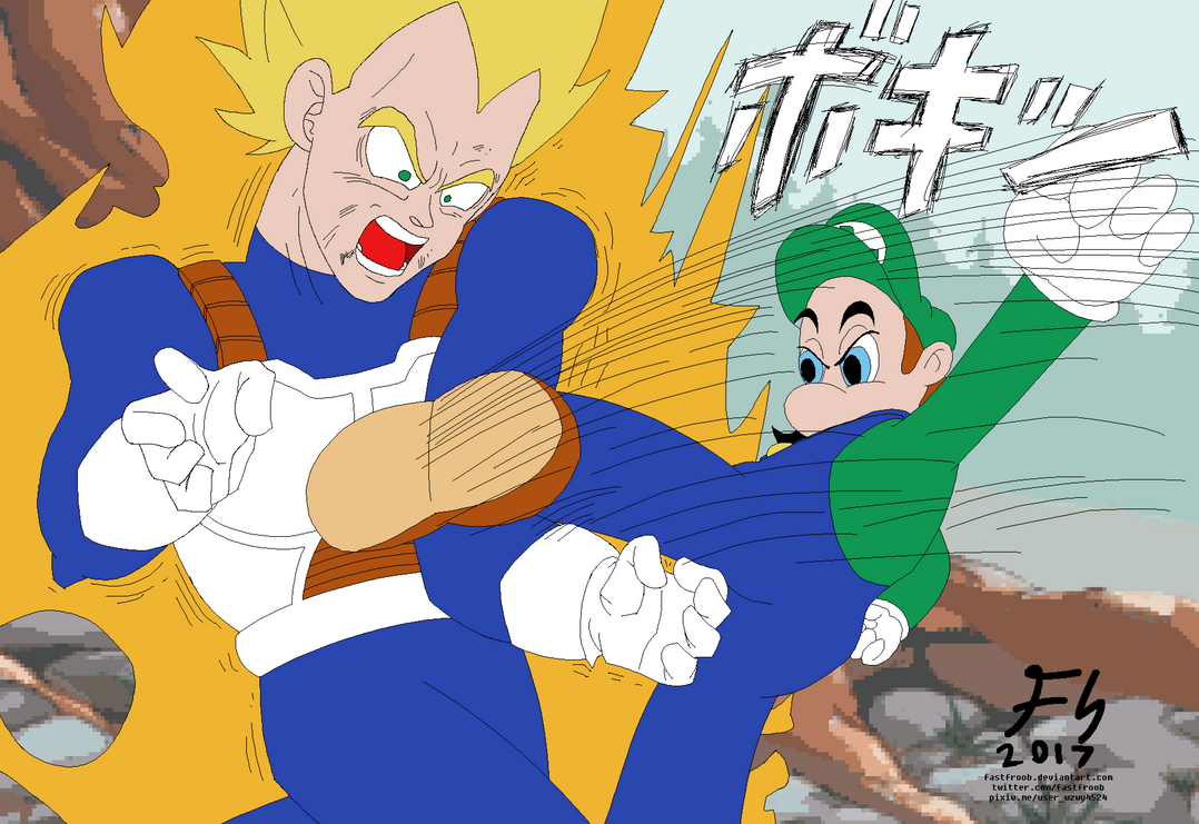 Hotel Luigi Breaks Vegeta's Arm