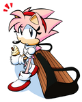 Amy Relaxing - Commission