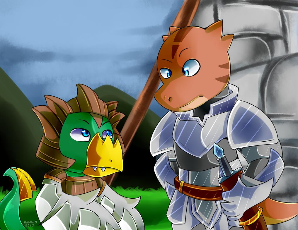 Meet Jiffa and Brown Knight by FanDragonBrigitha