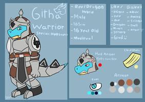 Githa Warrior (Old Reference Sheet) by FanDragonBrigitha