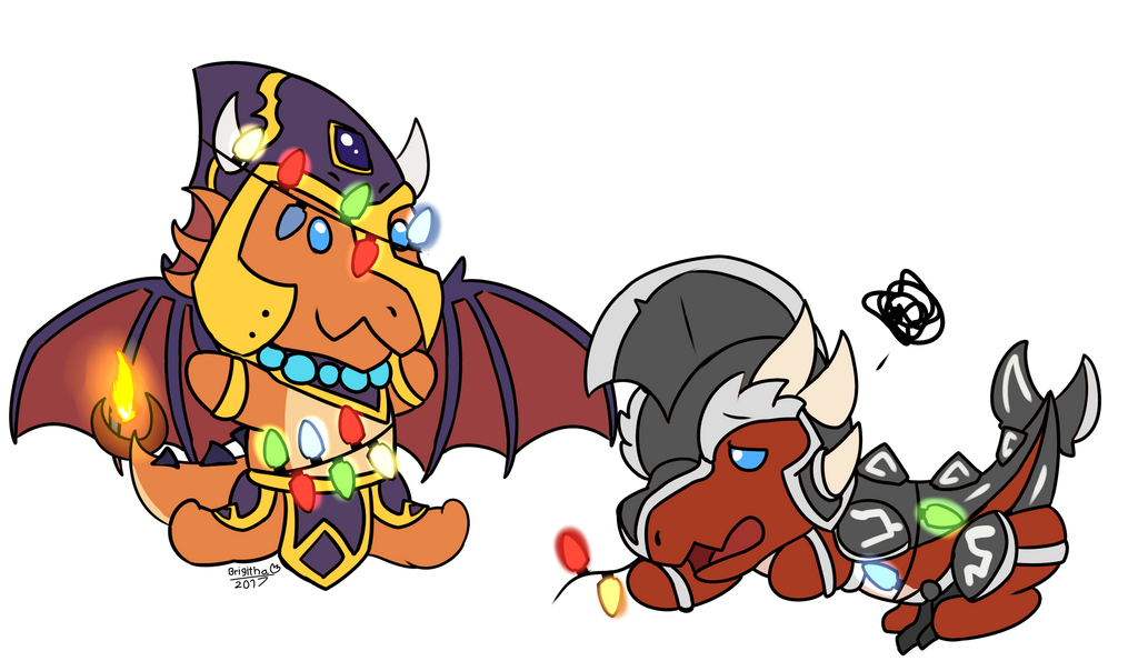 Chibi Light Christmas! by FanDragonBrigitha