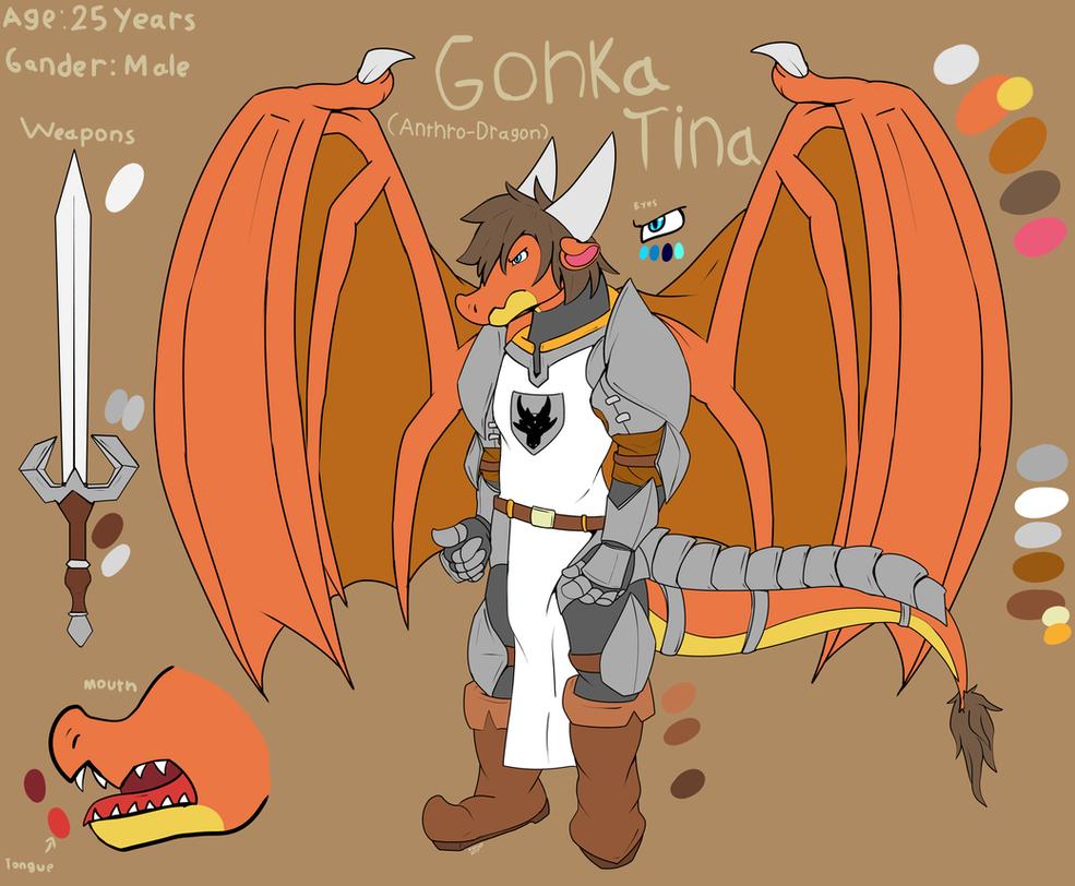 Gonka Tina (Old Reference Sheet) by FanDragonBrigitha
