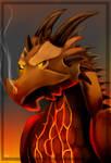 Burning Wyvern by FanDragonBrigitha