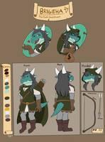 Brigitha (New Reference Sheet) by FanDragonBrigitha