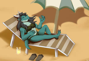 Pretty Dragon in Beach
