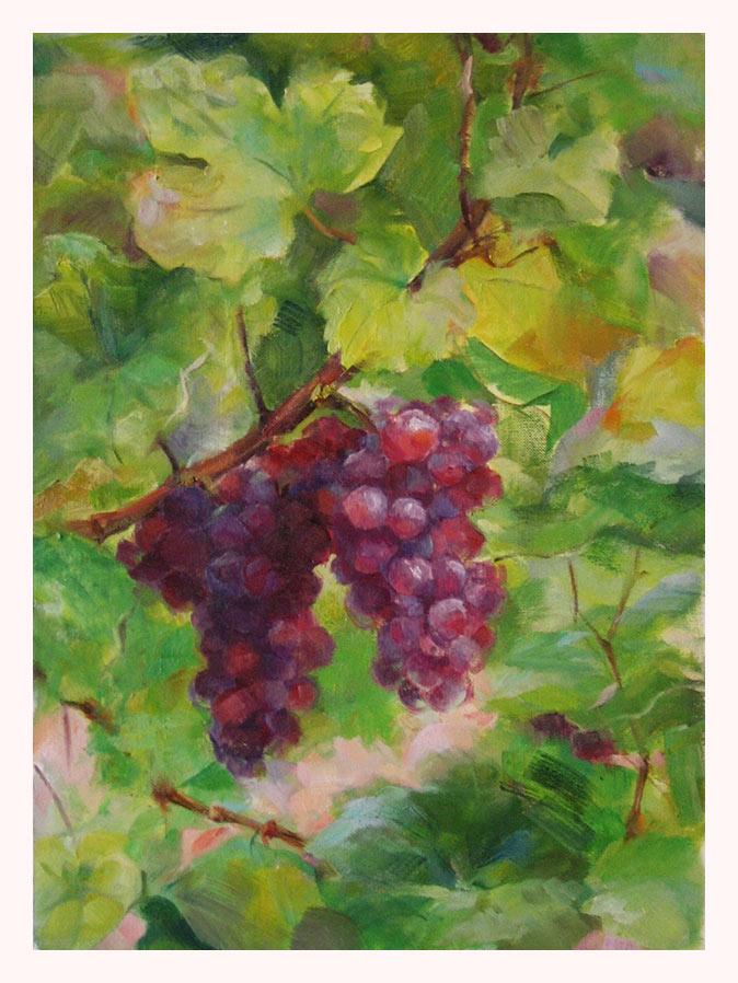grapes 7, oil by romantik111